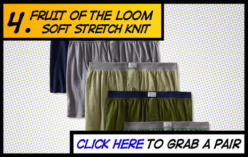 Fruit of the Loom boxers are a great choice for jock itch sufferers
